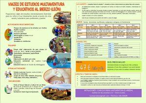 actividades para escolares, campamentos, viajes fin de curso, vacaciones escolares en el bierzo, actividade para colegios en el bierzo, actividades para colegios en leon